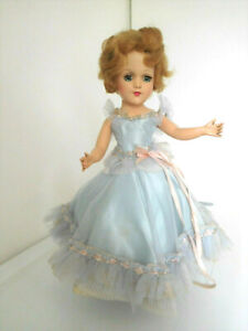 """Vintage 1950's Mary Hoyer 14"""" Hard Plastic Doll Original Dress Gown Clothes"""
