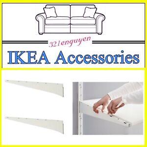"""Two (2) IKEA ALGOT Steel Shelf Bracket 22 3/4"""" White 102.185.41 - NEW"""