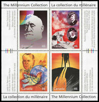 Canada Stamp #1825 - Humanitarians and Peacekeepers (2000) 4 x 46¢ Pane of 4