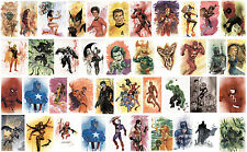 PICK 4 MARVEL DC STAR WARS 8.5 in. tall small POSTERS/PRINTS signed by LEE OAKS!