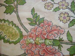 "Greeff Warner ENGLAND Indienne Tree of Life ""Calicut Garden"" Drapery Fabric 3 Yd"