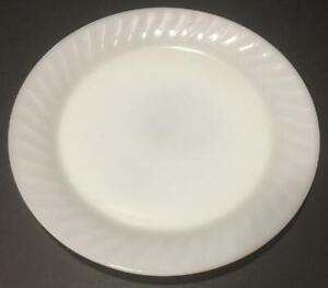 """Rare Fire King Ivory Swirl Large 11"""" Round Serving Plate/Platter"""