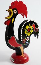 Portugal Painted Wooden Rooster Letter Holder Chicken Hen Wood Bird Portuguese