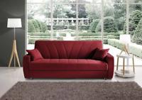 divano letto 3 posti in ecopelle o tessuto contenitore imbottito salotto divani