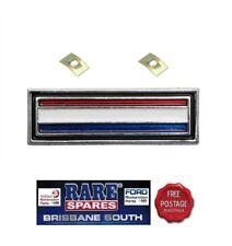 FORD FALCON CONSOLE BADGE XW XY GS RED, WHITE & BLUE STRIPE RARE SPARES