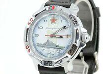 Russische Automatik Uhr Datumsanzeige 38 mm Sekundenzeiger Stahl Leder #RU02