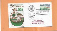 SOIL CONSERVATION AUG 26,1959 RAPID CITY S.DAK  VINTAGE FDC  +