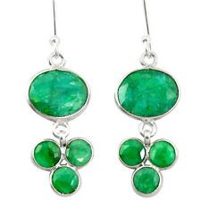 Natural Green Emerald 925 Sterling Silver Chandelier Earrings M46626
