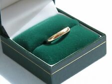 STUNNING 1958 VINTAGE 22CT YELLOW GOLD 3mm WEDDING BAND RING 3.4g - SIZE I 1/2