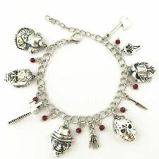 Wise Jason Hockey Horror Charm Bracelet Chucky Face Stephen Kings It Penny