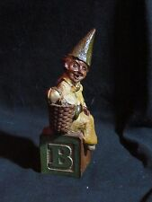 "Dr. Thomas F. Clark Gnome figurine named - ""Alphabet B"", the B block, Bell"