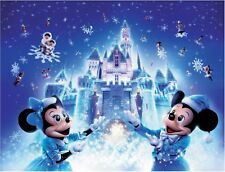 "Winter Mickey Minnie Mouse Disney Kids 16""x20"" Canvas Picture Wall Art Prints"