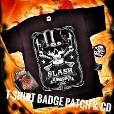 Slash, Calavera T-shirt Tamaño mediano Inc Magazine, CD, Parche, Distintivo + Poster-Fanpack