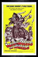 WEREWOLVES ON WHEELS * WEREWOLF BIKER MOTORCYCLE MOVIE POSTER HORROR 1971