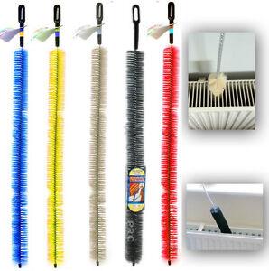 Long Reach Flexible Radiator Heater Heating Bristle Brush Dust Cleaner