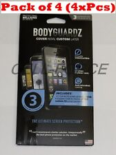 "4xBodyguardz Cut To Fit Any Screen 3.5"" x 5.5"" Smaller Guard Protector For Phone"
