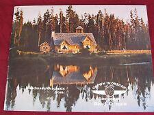 """Vtg 1984 """"Grown in Oregon"""" Log Cabin Homes Home Plans Bend Brochure Booklet #2"""