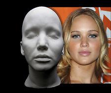 Jennifer Lawrence Life Mask Lifecast Bust Hunger Games X-Men Raven Mystique JLaw