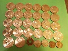 Starter set 25 HI-GRADE Kennedy half dollars + NICE BONUSES! Discounted shipping