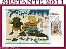ITALIA MAXIMUM MAXI CARD 1979 GIORNATA FRANCOBOLLO SCUOLA MEDIA PALERMO (266)