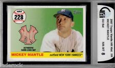 Mickey Mantle 2007 Topps Home Run History Game Used Bat Relic HR #228 (#3/7) GAI