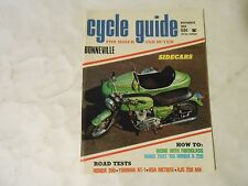 NOVEMBER 1969 CYCLE GUIDE MAGAZINE,BONNEVILLE,HONDA 350,YAMAHA AT-1,BSA,AJS,AMA