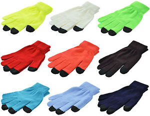 Magic Touch Screen Gloves Smartphone Texting Stretch One Size Winter Knit