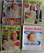 Prince William Princess Kate Baby George Birth UK Royalty Magazine Clippings Lot