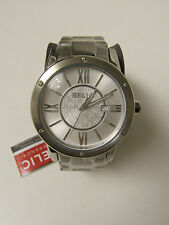 (M) RELIC BY FOSSIL STAINLESS STEEL SILVER PAYTON WATCH ZR1203 NEW W/TAG & TIN