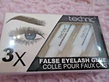 Technic False Eyelash Glue Adhesive Lashes Clear Strong 3 Tubes in Pack