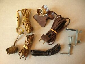Lot fil électrique interrupteur poire pince restauration lampe chevet
