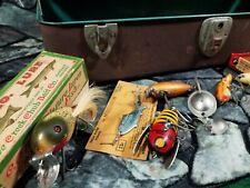New listing Vtg Liberty Tackle Box Fishing Lures - Wood Glass Eyes Boxes Heddon C.C.B.Co.