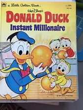 Pre-owned Walt Disney's Donald Duck Instant Millionaire Little Golden Book