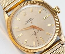 Vintage 1956 Men's Rolex 14K Gold Oyster Perpetual Model 6567 Wristwatch