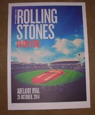 Rolling Stones concert poster print Adelaide 10-25-14 2014 Lithograph On Fire