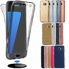 Shockproof 360° Front/Back Clear Gel Case Cover For Samsung Galaxy Models 2017