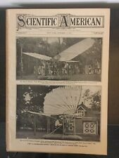 Early Flying Machine - Airplane - Aviation - 1907 SCIENTIFIC AMERICAN Magazine