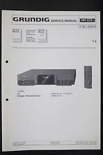 Grundig T 6 original système TUNER Manuel de service/AMPLIFICATEUR/diagram