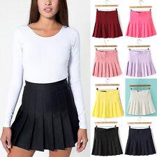 2017 Trends Womens Slim Thin High Waist Pleated Tennis Skirts Mini Dress Playful