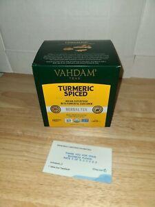 VAHDAM Turmeric Tea - 100% Natural spiced Herbal Tea - 15 Tea Bags