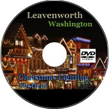 DVD Holiday Christmas Village Town Lights Relaxing Ambient Winter Snow Fun Video