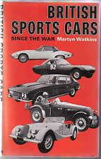 British Sports Cars Since the War by Martyn Watkins Pub Batsford 1974