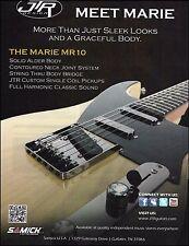 The JTR Design Samick Marie MR 10 electric guitar ad 8 x 11 advertisement print