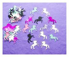 50 unicorn shape embellishments card making scrap booking patterned plain shiny