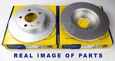 2X REAR AXLE BRAKE DISCS FOR CHEVROLET OPEL VAUXHALL ASTRA MERIVA ZAFIRA ADC1121