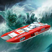 DT G30E Hell Cat Fiber Glass Red 70Km/h 30CC Engine Gas RC Race Speed Boat ARTR