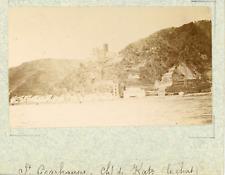 Allemagne, Sankt Goarshausen, le château du Katz vintage albumen print,Photos