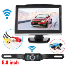 "5"" TFT LCD Car Rear View Backup Monitor&Wireless Parking Night Vision Camera Kit"