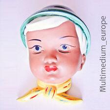 Wandmaske Gmundner Keramik Junge mit Tirolerhut und Halstuch