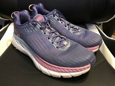 Womens Hoka One One Clifton 5 Size 11 Running Shoes Purple Pre-owned